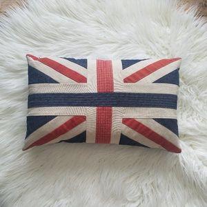 Union Jack England United Kingdom Accent Pillow
